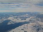 Mjösa See im Winter Luftaufnahme