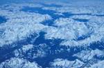 Alpen im Winter Luftbild
