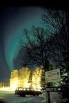 northern lights over northern lights observatory