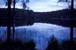 südfinnischer See am Abend