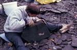Fossiliensucher in Grube Messel