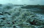 storm flood on island Hooge