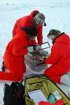 ice researcher at work