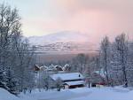 Schneefront über Tromsø