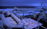 verschneites Schlachboot auf Jan Mayen
