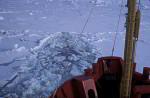 Eisbrecher Polar Queen rammt durch Packeis