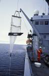 plankton net on researchvesel Lance