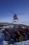 recovering of empty oil drums in Antarctica