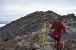 geologist in transantarctic mountains