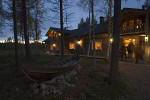 finnisches Hotel am Abend