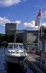 Sportboot Tankstelle bei Waxholm
