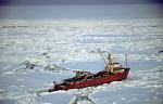 icebreaker Polar Queen in pack ice