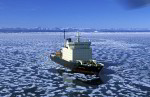 russian icebreaker Kapitan Dranitsyn in pack ice