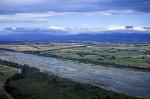 Anflug auf Christchurch Fluß Waimakariri