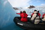 tourists at iceberg