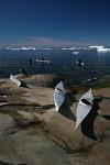 Ilulissat Inuit mit Kayaks