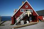 Upernavik museum with polar bear fur