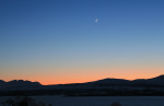 Mondsichel und Venus
