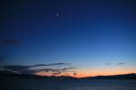 Mond und Venus über Kvaløya