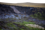 Permafrost taut bei King Point