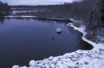 Fluß bei Vikajärvi