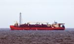 Bohrschiff in der Nordsee