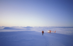 researcher on antarctic inlandice
