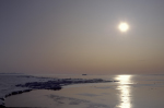Abend im antarktischen Packeis