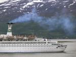 Abgase von Kreuzfahrtschiff