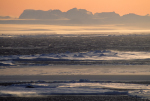 antarctic coast at dusk