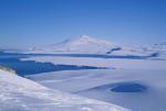 volcanoe mount Melbourne in antarctica
