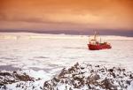 Forschungsschiff in Antarktis