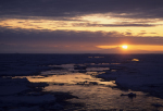 dusk in antarctica