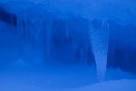 blue cave in ice