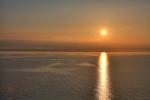 Sonnenuntergang im Großen belt