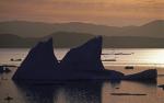 Abend im Grönlandeis