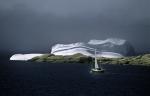 Segelboot und Eisberg
