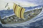 Wikingerschiff in Nuuk