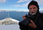 photographer in Disko bay