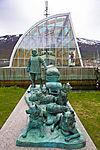 Denkmal Polarforscher Helmer Hanssen