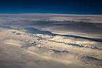 Wolken über Grönlandeis