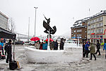snow sculpture in Tromso