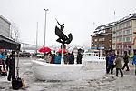 Schneeskulptur in Tromsø