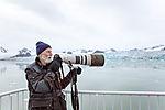 photographer on Svalbard
