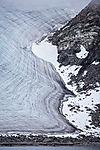Schichtung im Gletscher
