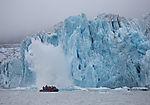 glacier calving at Monacobreen