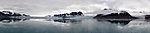Svalbard panorama off Monacobreen