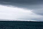 clouds over glacier Valhallfonna