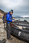 polar bear guard on Svalbard