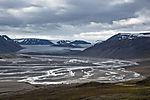 glacial landscape on Svalbard